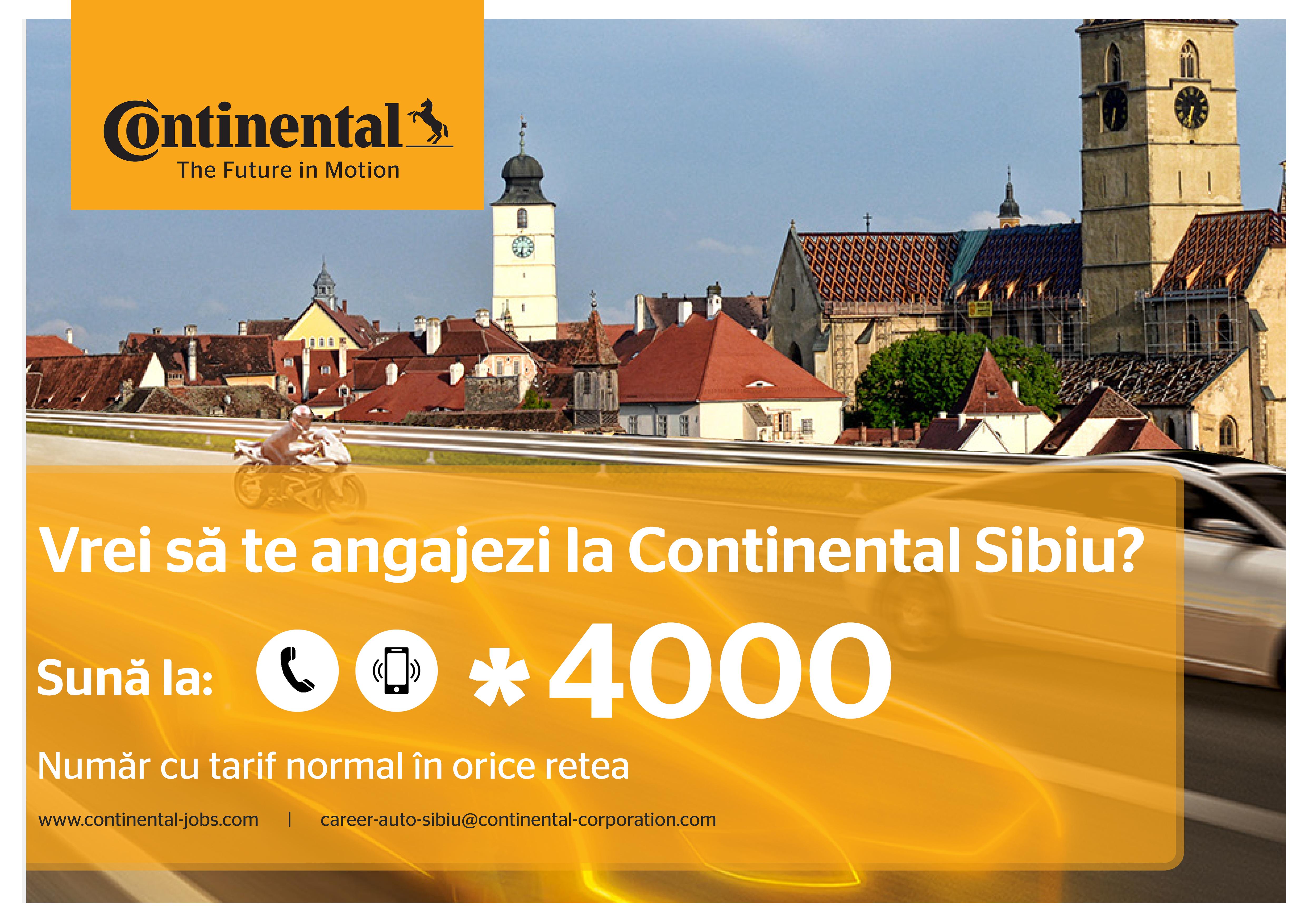 Dacă Vrei Să Te Angajezi La Continental – Sună La *4000 –  Linia Dedicată Viitorului Tău!