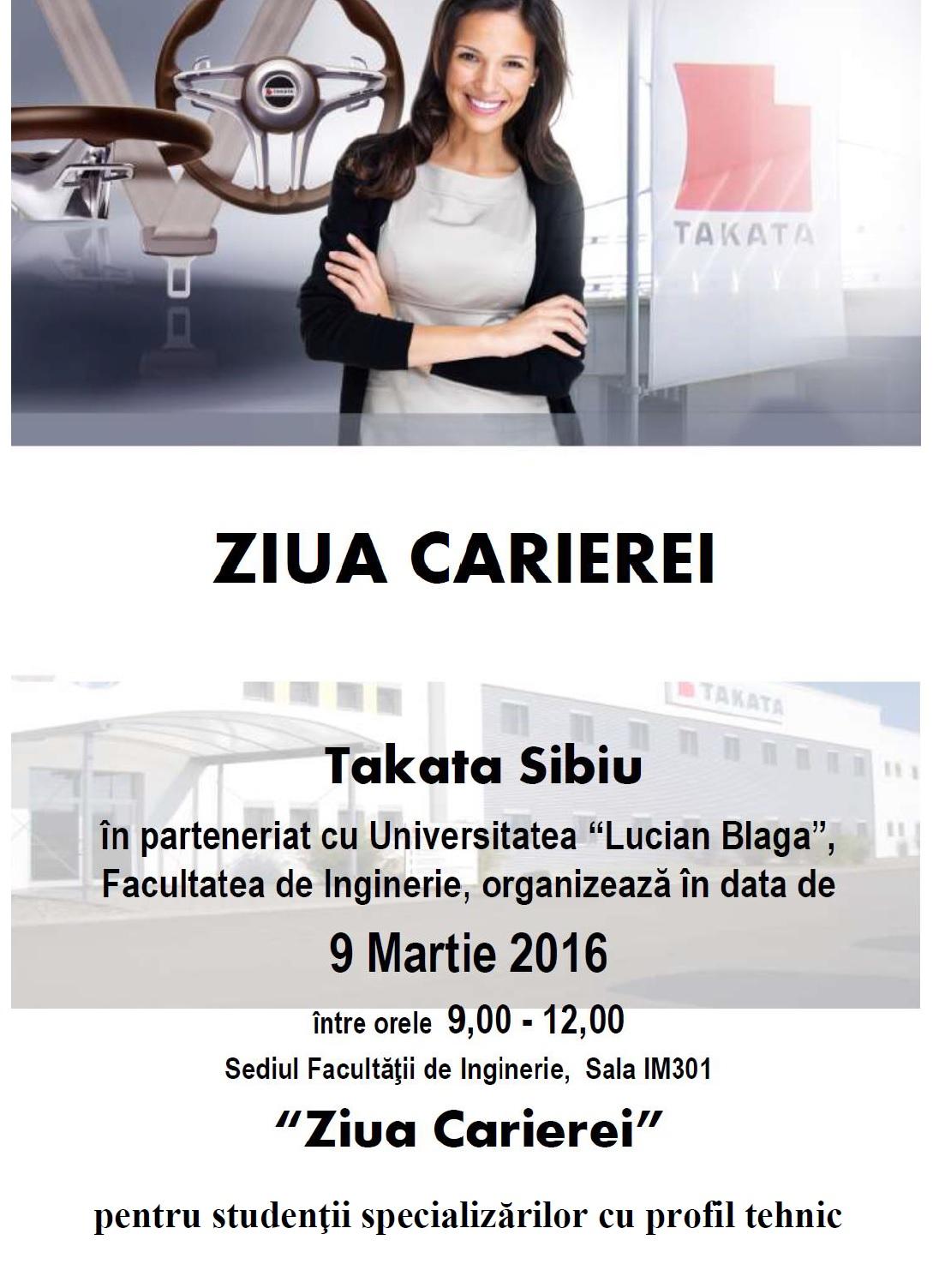 "TAKATA ""Ziua Carierei"""