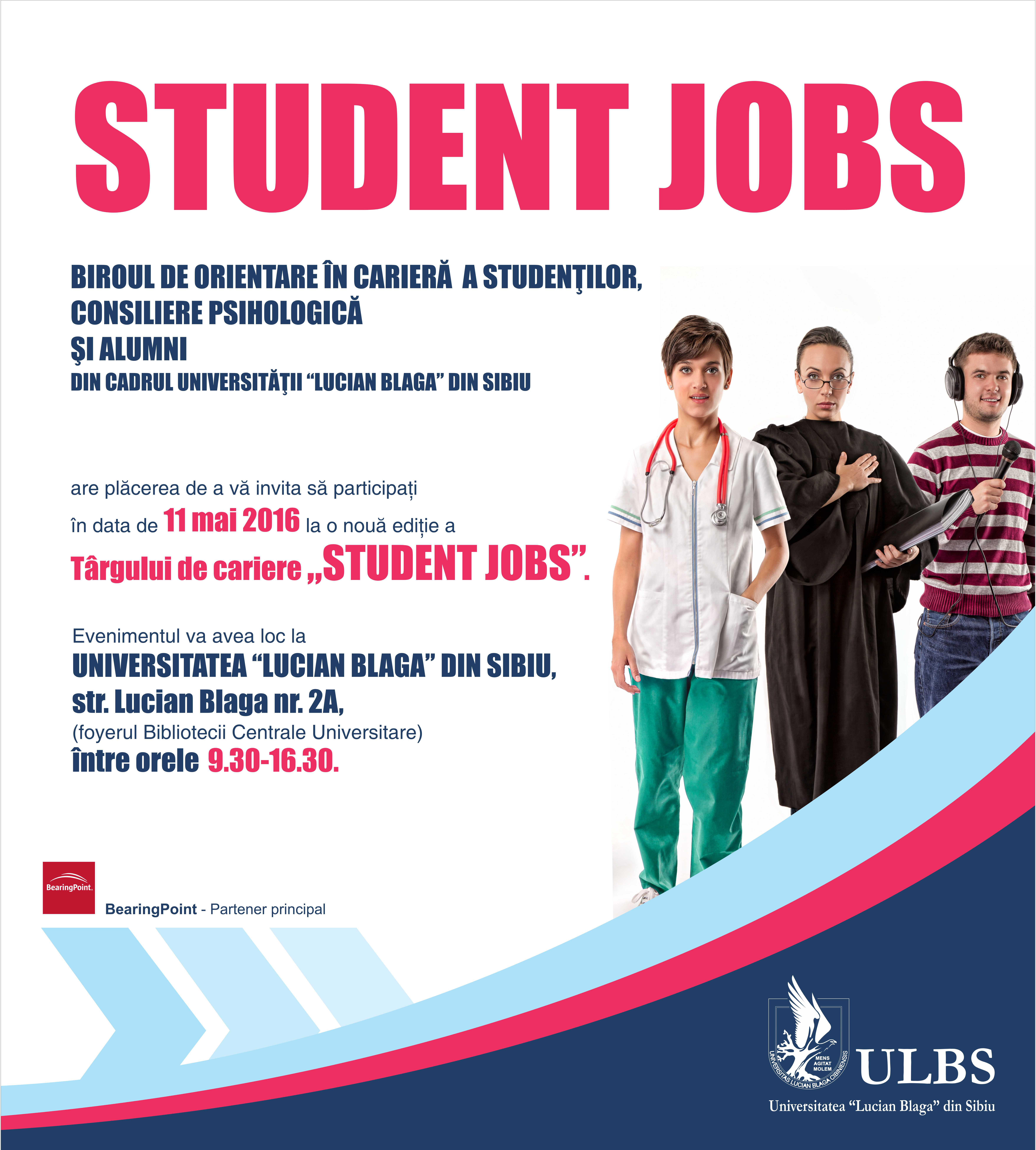 "ULBS – Târg De Carieră ""STUDENT JOBS"" 2016"