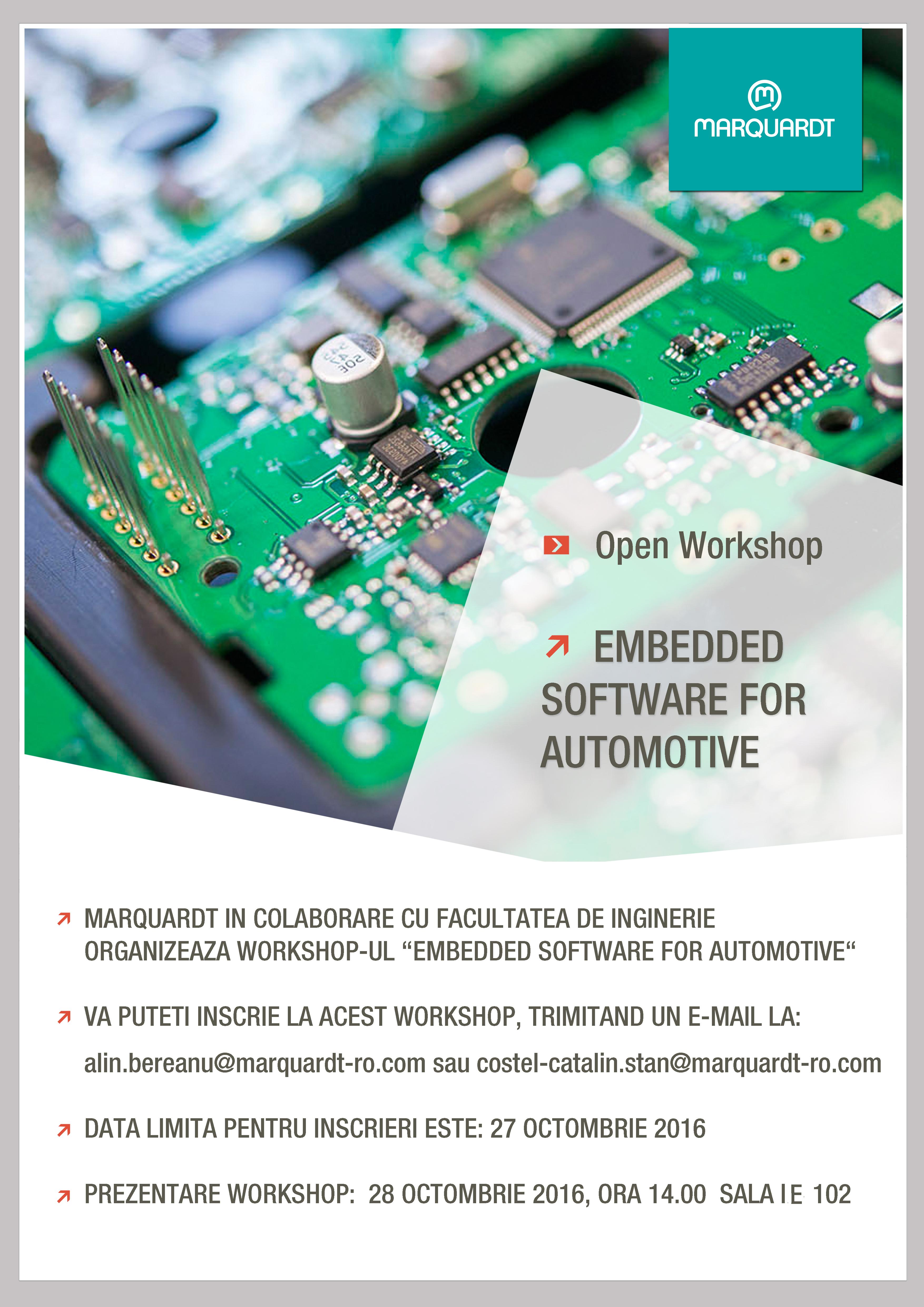 """Workshop-ul """"Embedded Software For Automotive"""""""
