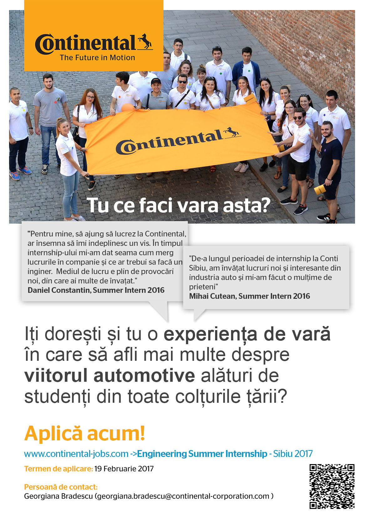 Programul De Internship Continental