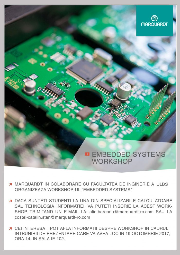 WORKSHOP EMBEDDED SYSTEMS 2017