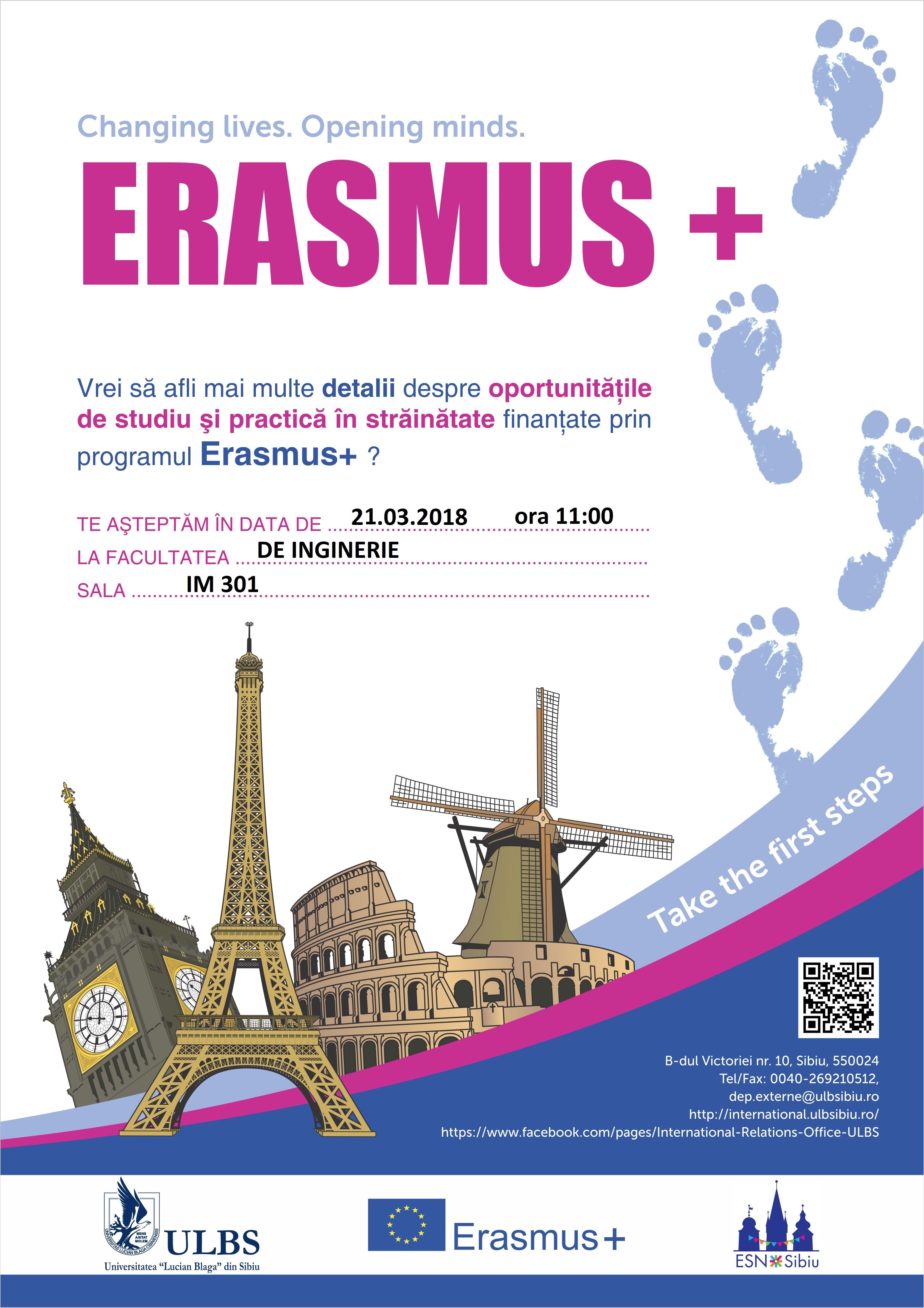 ERASMUS+  Oportunități De Studiu și Practică în Străinătate