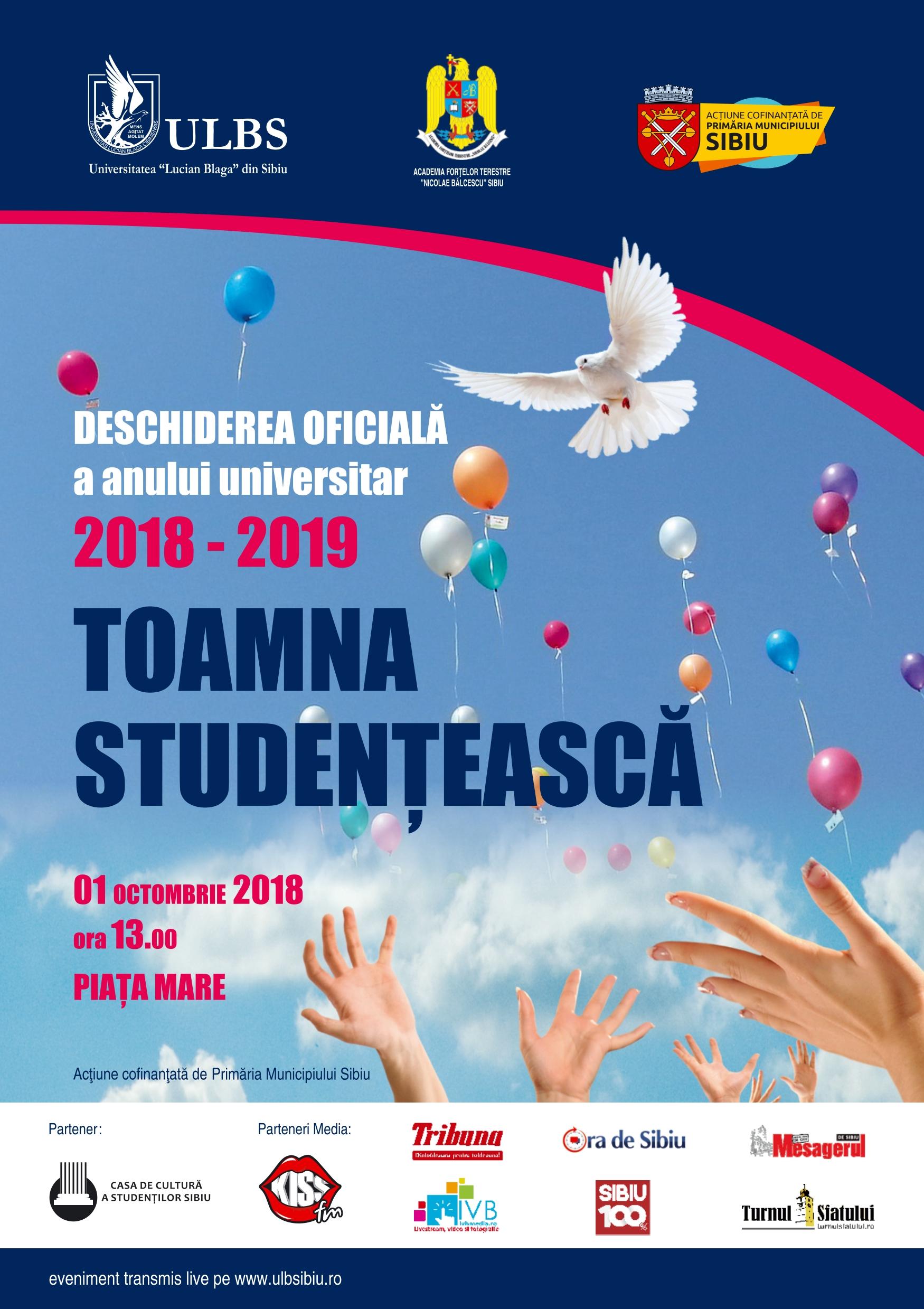 Toamna Studențească – Deschiderea Oficială A Noului An Universitar