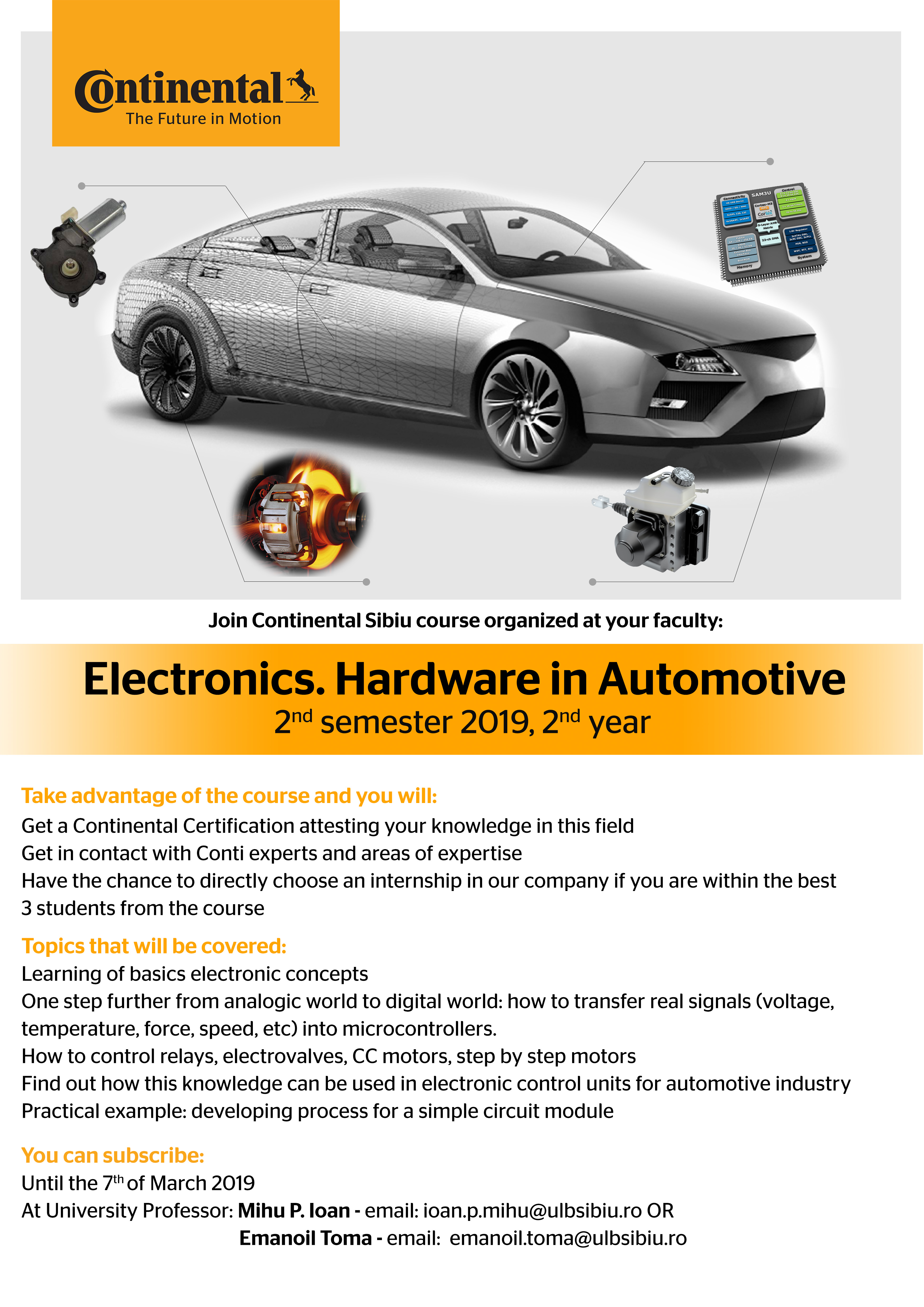 Curs Electronics.Hardware In Automotive – Continental Sibiu