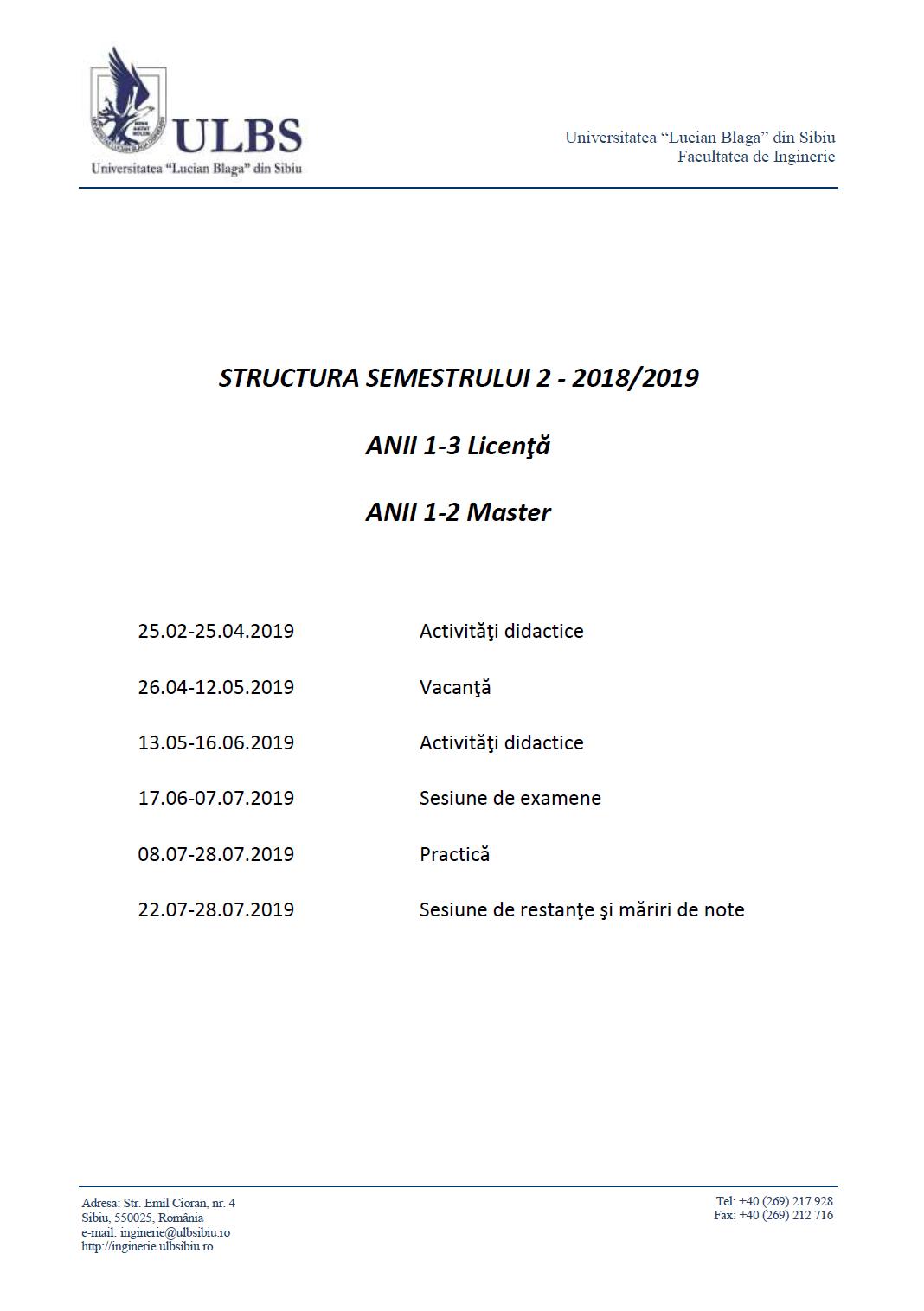 În Atenția Studenților Anii 1-3 Licență, 1-2 Master