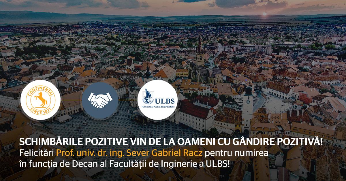 Continental Sibiu Felicită Numirea în Funcție A Noului Decan Sever Gabriel Racz
