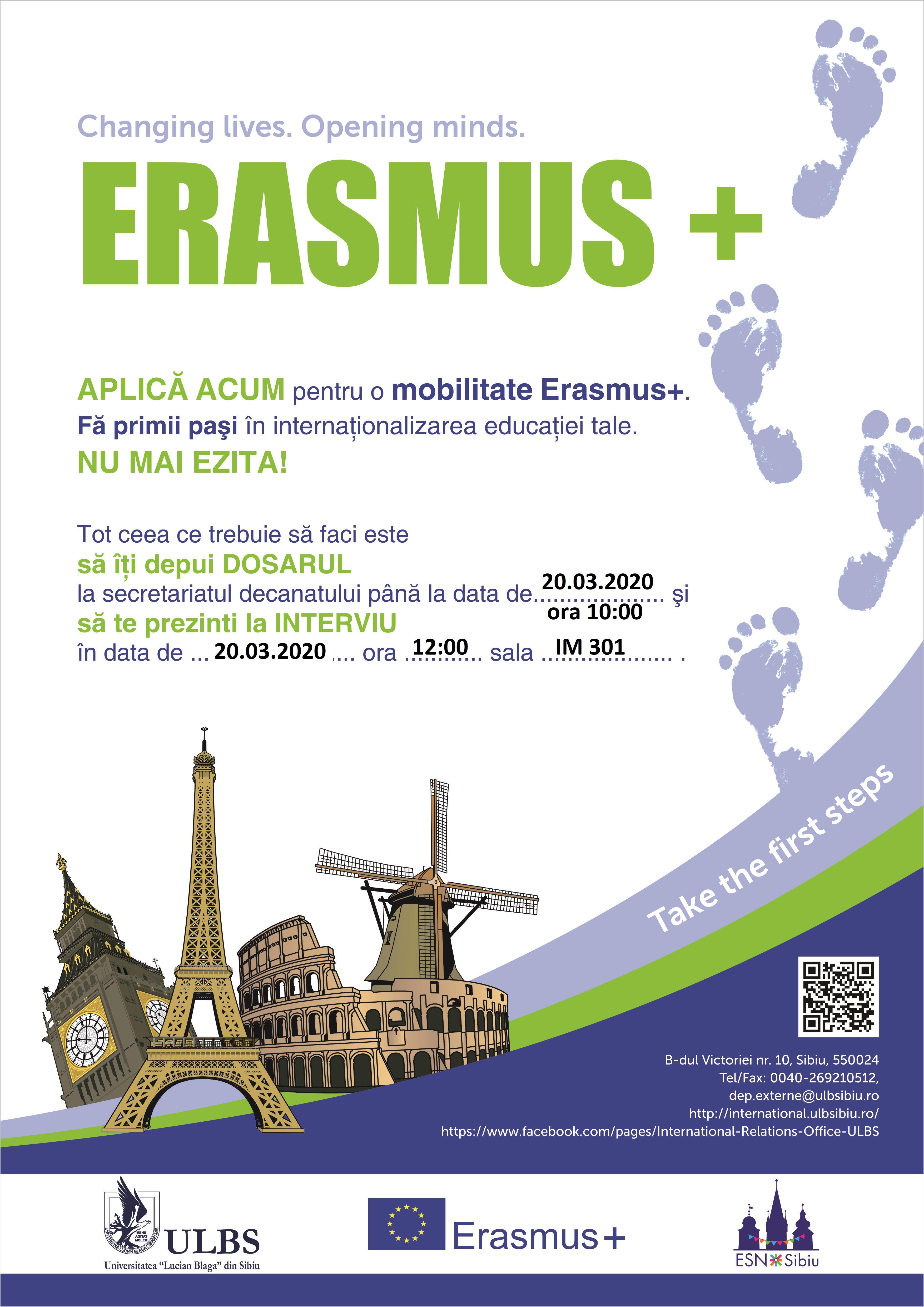 Selecție ERASMUS +