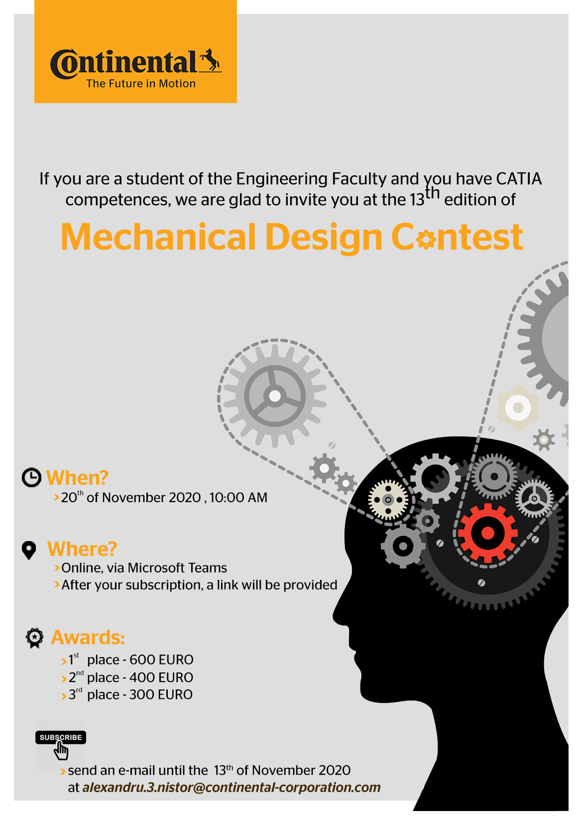 Continental-Mechanical Design Contest
