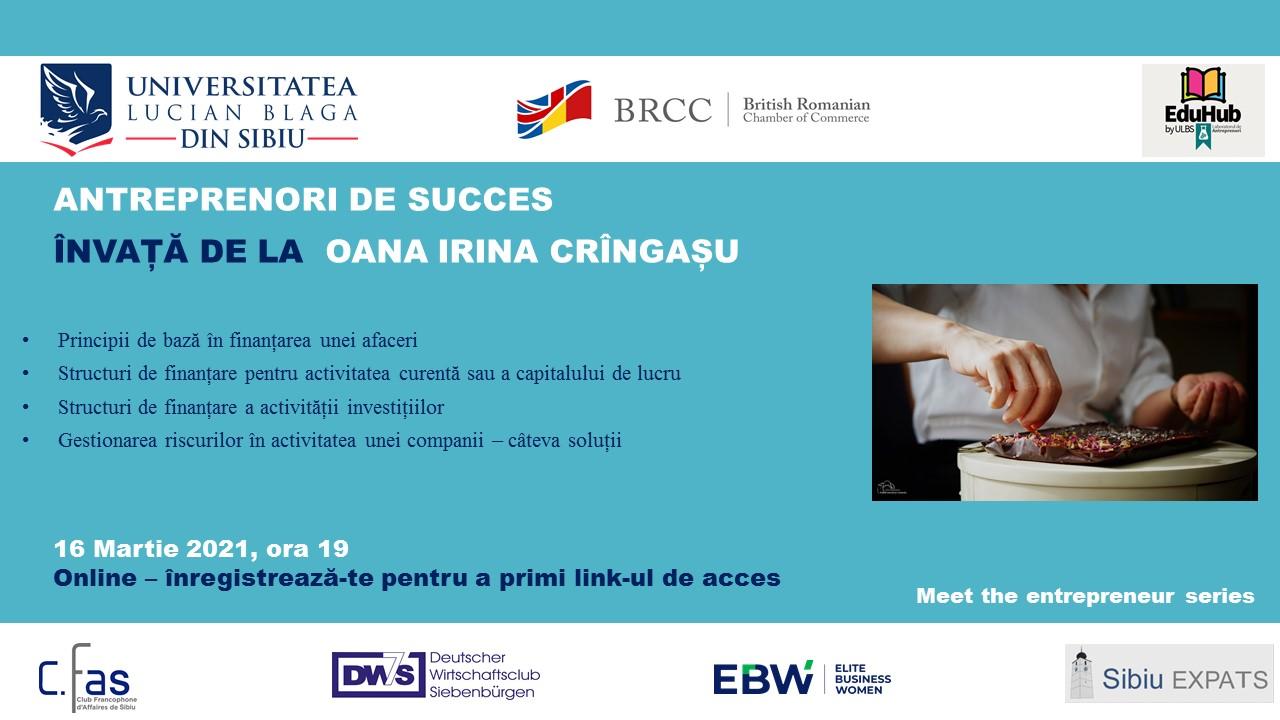 Event Meet The Entrepreneur Oana Cringasu V1