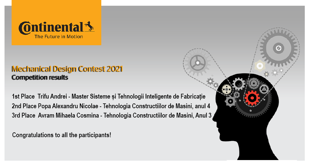 Continental Mechanical Design Contest 2021 Competition Results